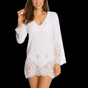Kenneth Cole Reaction Scalloped Away Cover Up